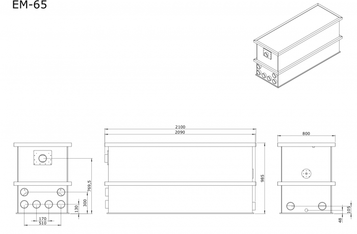 EM-65 Combi totalfilter